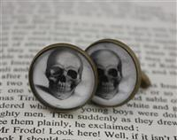 Skull glass tile 20mm Cufflinks
